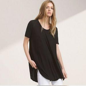 Talula black oversized t-shirt tunic